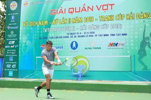 Tay vợt Hoàng Nam lần đầu đấu quần vợt nhà nghề tại quê nhà