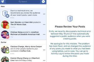 Facebook nói gì về việc bài viết của 14 triệu tài khoản bị chuyển sang chế độ công khai?