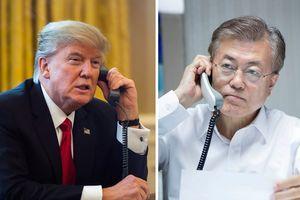 Tổng thống Donald Trump điện đàm với Tổng thống Hàn Quốc trước hội nghị thượng đỉnh Mỹ-Triều Tiên