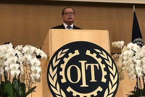 Phó Chủ tịch TLĐLĐVN Trần Văn Lý dự Hội nghị Lao động Quốc tế lần thứ 107