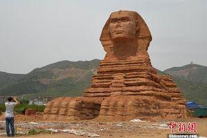 Tranh cãi về tượng nhân sư 'nhái' ở Trung Quốc