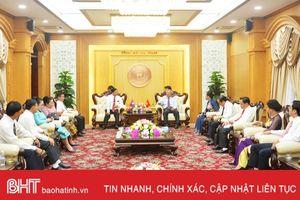 Hà Tĩnh - Bôlykhămxay chia sẻ kinh nghiệm công tác kiểm tra của Đảng