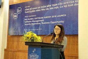 BSA: tỷ lệ vi phạm bản quyền phần mềm máy tính ở Việt Nam giảm còn 74%
