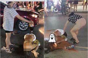 Vợ đánh ghen lột đồ, trộn nước mắm và bột ớt xát vào chỗ hiểm của bồ nhí ngay giữa đường