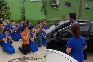 Hàng chục cô giáo xếp hàng quỳ khi cơ sở mần non bị đóng cửa ở Nghệ An