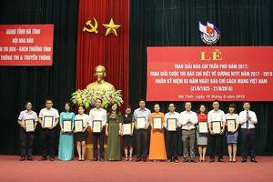 Hà Tĩnh trao giải báo chí Trần Phú