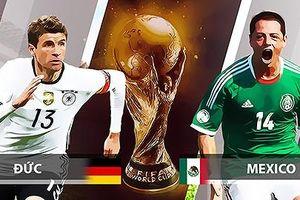 Trực tiếp bóng đá World Cup 2018 trận Đức vs Mexico hôm nay