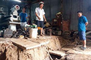 Cà Mau lại sạt lở đất khiến 6 nhà dân bị sụp