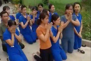 Công an xác minh việc hàng loạt nữ giáo viên quỳ trước mặt cán bộ