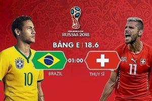 Link xem trực tiếp Brazil vs Thụy Sĩ, bảng E World Cup 2018
