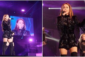 Minh Hằng lần đầu hát live 'Em xin anh' tại Hàn Quốc hay hơn mở đĩa