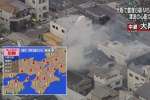 Xảy ra động đất 6,1 độ richter ở Nhật Bản, gây nhiều thương vong