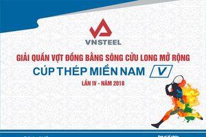 Hấp dẫn 'Giải quần vợt ĐBSCL mở rộng - Cúp Thép Miền Nam năm 2018'