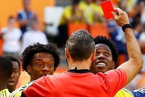 Tin nhanh World Cup: Dính thẻ đỏ, cầu thủ Colombia bị dọa giết