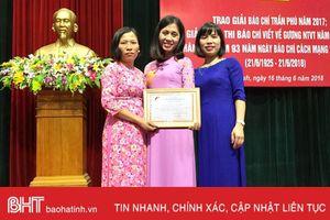 Báo Hà Tĩnh giành giải C Báo chí Quốc gia: 'Quả ngọt' từ đề tài xây dựng Đảng