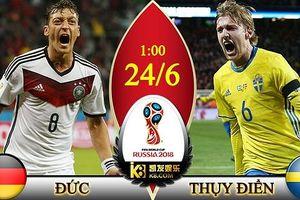 Xem bóng đá World Cup 2018 trực tiếp trận Đức vs Thụy Điển trên VTV3, HTV9