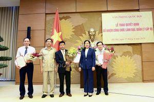 Bổ nhiệm nhiều chức danh lãnh đạo tại Văn phòng Quốc hội