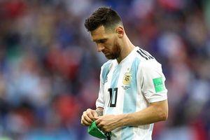 Khoảnh khắc Messi chia tay World Cup 2018