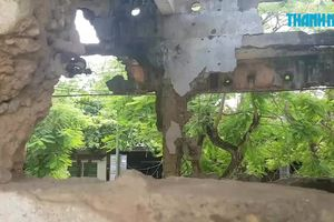 Dựng cột thép, làm mái che 'cứu' di tích quốc gia Trường Bồ Đề