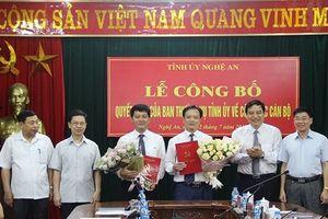 Điều động, bổ nhiệm nhân sự chủ chốt tại Nghệ An