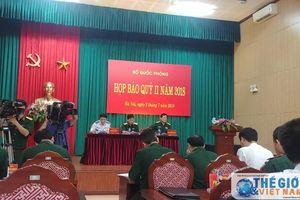 Bộ Quốc phòng thông báo về Luật Quốc phòng sửa đổi
