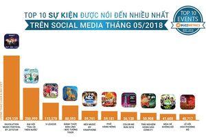Đại nhạc hội NEX by VinaPhone lọt top 10 sự kiện được thảo luận nhiều nhất trên mạng xã hội