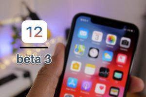 Apple phát hành bản cập nhật iOS 12 beta 3