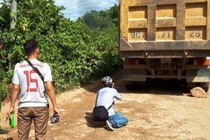 Xe tải trôi dốc cán chết người phụ nữ đi xe máy