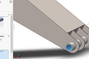 Ứng dụng phần mềm Solidworks trong tính toán, thiết kế giá đỡ mâm khoan của máy khoan cọc nhồi kiểu gầu xoay lắp trên cần trục bánh xích
