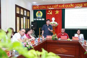 Đoàn đại biểu cấp cao Trung tâm Những người lao động Cuba thăm, làm việc tại LĐLĐ tỉnh Ninh Bình
