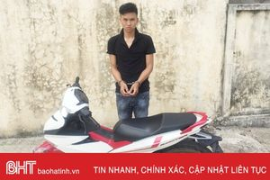 Thiếu tiền tiêu, nhảy từ Quảng Bình ra Hà Tĩnh trộm xe máy