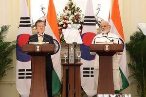 Hàn Quốc-Ấn Độ nhất trí thúc đẩy hợp tác kinh tế khu vực