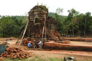 Hoàn thành trùng tu tháp K tại Mỹ Sơn