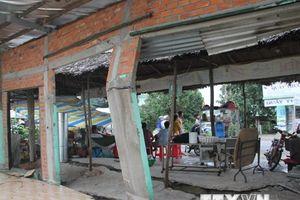 Long An: Sụt lún nghiêm trọng trên tuyến kênh Dương Văn Dương