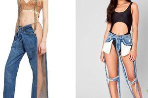 Những mẫu quần jeans quái dị mà đắt cắt cổ