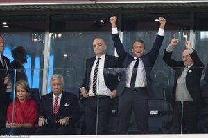 Pháp vào chung kết, Tổng thống Macron phấn kích trước Vua và Hoàng hậu Bỉ