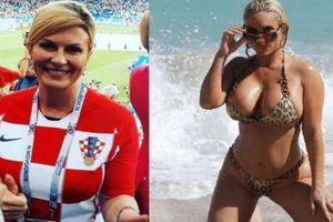 Nữ tổng thống hay bị nhầm với người mẫu mặc bikini của Croatia