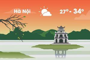 Thời tiết ngày 12/7: Hà Nội nắng nóng trở lại, cao nhất 34 độ C