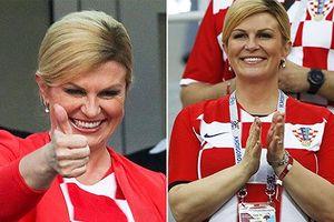 Nữ Tổng thống xinh đẹp-'fan' cuồng nhiệt nhất của Croatia tại WC