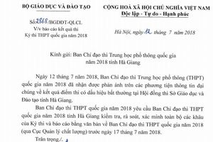 Điểm thi cao bất thường: Bộ GĐ&ĐT yêu cầu ra soát khâu chấm thi tại Hà Giang