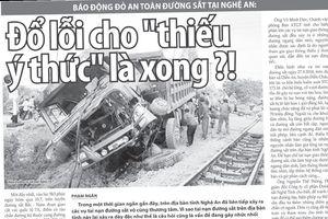 Viết tiếp Báo động đỏ an toàn đường sắt tại Nghệ An: Chủ tịch tỉnh chỉ đạo, tai nạn vẫn xảy ra, ai chịu trách nhiệm?