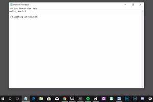 Microsoft bất ngờ cập nhật cho Notepad lần đầu tiên sau nhiều năm
