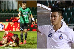 Thủ môn CLB Đà Nẵng khóc sau khi dâng điểm cho đội của HLV Miura