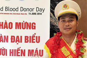 Đại úy Hồ Đức Trí - gương mặt tiêu biểu trong phong trào hiến máu tình nguyện