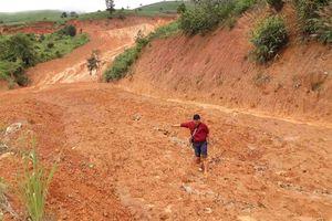 Hàng nghìn m3 đất đá đổ xuống đường 482 tỉ