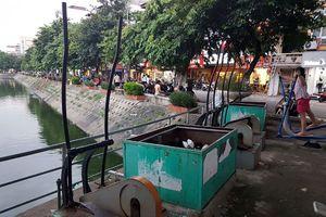 Cận cảnh: Máy tập thể dục kết hợp lọc nước hồ xuống cấp gây lãng phí
