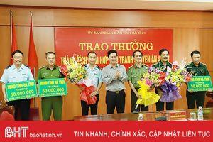 Lãnh đạo Hà Tĩnh khen thưởng ban chuyên án triệt phá đường dây vận chuyển ma túy 'khủng'