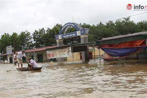 Hà Tĩnh: Lũ ngập gần 2m, UBND xã đóng cửa 3 ngày vì bị cô lập