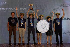 Ứng dụng rô bốt ảo tư vấn nghề nghiệp giành quán quân cuộc thi KMS Hackathon 2018