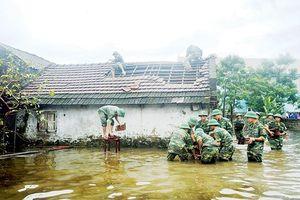 Nhiều nơi mưa to, ngập lụt sau bão số 3